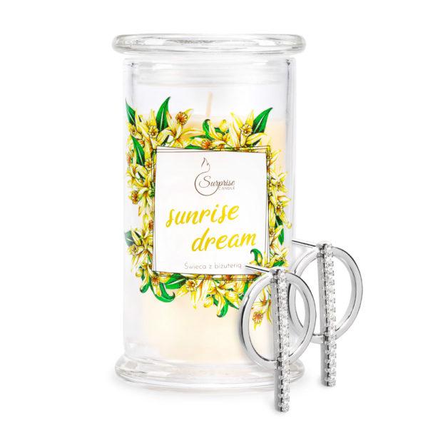 waniliowa świeca zapachowa z kolczykami