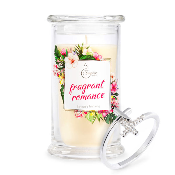 świeca zapachowa z pierścionkiem