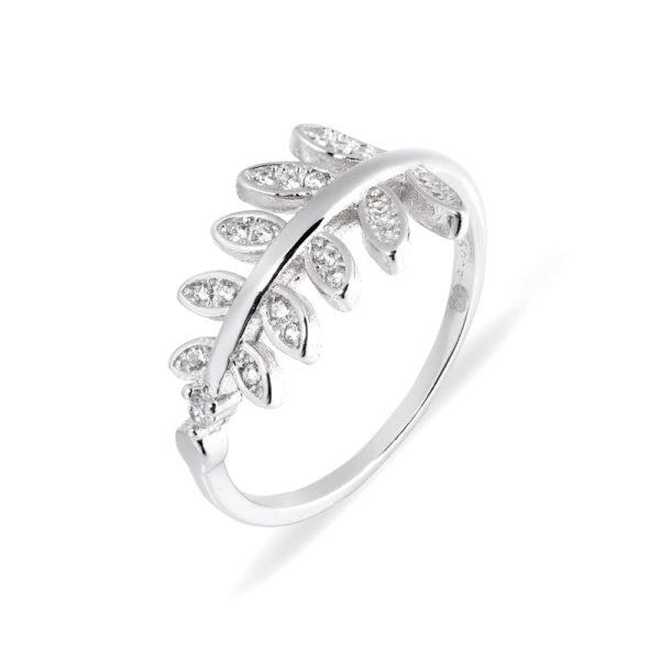 pierścionek z listkami