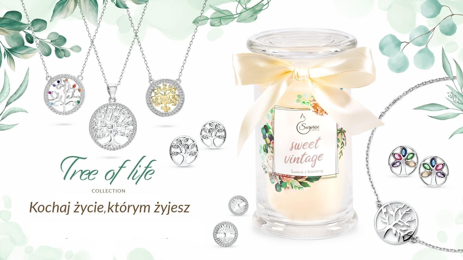 kolekcja biżuterii tree of life